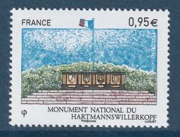 FRANCE 2015 National Monument Hartmannswillerkopf: Single Stamp UM/MNH - Frankreich