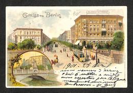 3.70€ : ALLEMAGNE - BERLIN - Gruss Aus BERLIN - Herkules Brücke - Albrechtshop  - 1901 - Zonder Classificatie