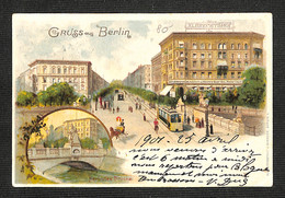 3.70€ : ALLEMAGNE - BERLIN - Gruss Aus BERLIN - Herkules Brücke - Albrechtshop  - 1901 - Non Classificati