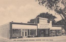 Cape Cod Massachusetts, New Orleans Theatre Building, Orleans, C1930s/40s Vintage Postcard - Cape Cod