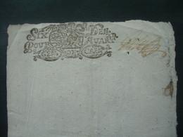 MANUSCRIT De 1696 à Déchiffrer.. CACHET GENERALITE De CAEN 16 DENIERS - Gebührenstempel, Impoststempel
