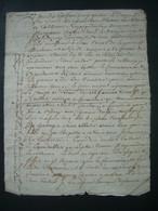 MANUSCRIT De 1724 à Déchiffrer.. CACHET GENERALITE De CAEN..SAINT JAMES (50) Jean CERISEL à St MARTIN De MONTJOIE (50) - Gebührenstempel, Impoststempel