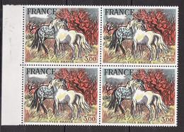 N° 2026 Oeuvre D'Art Chevaux De Camargue De Brayer; Bloc De 4 Timbres Neuf Impeccable - Unused Stamps