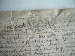 MANUSCRIT De 1658 à Déchiffrer.. CACHET GENERALITE De CAEN Moyen Papier.. SAINT JAMES (50) - Gebührenstempel, Impoststempel