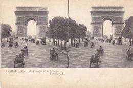 BE17-  PARIS  L'ARC DE TRIOMPHE  ET LES CHAMPS CPA STEREO  13 X 9 - De Overstroming Van 1910
