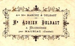 DELBAST  Fabrique Toile De Ménage  à Boissiere Par MAURIAC Cantal  1910 - Lettres De Change