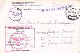 GUERRE 39-45 COR.PRISONNIER DE GUERRE FRANÇAIS Au Stalag XII A /4 LIMBURG AN DER LAHN – Rédigé Le 13-7-1941 - Guerra De 1939-45