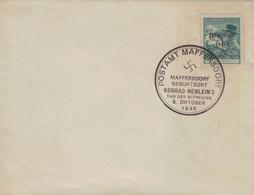 [WR70] Postamt Maffersdorf - Geburtsort Konrad Henlein 8.10.1938 Tag Der Befreiuung - Masaryk - Covers & Documents