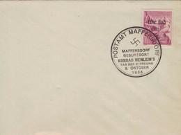 [WR71] Postamt Maffersdorf - Geburtsort Konrad Henlein 8.10.1938 Tag Der Befreiuung - Adler - Covers & Documents