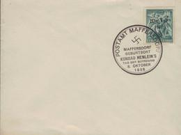[WR72] Postamt Maffersdorf - Geburtsort Konrad Henlein 8.10.1938 Tag Der Befreiuung - Schlacht Von Bachmac In Ukraine - Covers & Documents