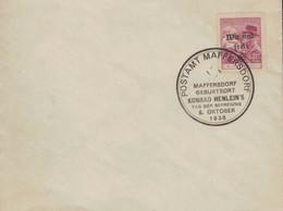 [WR73] Postamt Maffersdorf - Geburtsort Konrad Henlein 8.10.1938 Tag Der Befreiuung - Masaryk - Covers & Documents