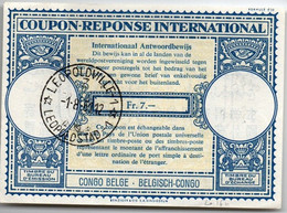 Congo Belge 1961 - Coupon-reponse Type Lo 16n - Leopoldville - CRI IRC IAS - Cupón-respuesta Internacionales