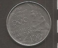 San Marino - Moneta Circolata Da 100 Lire Km108 - 1980 - San Marino