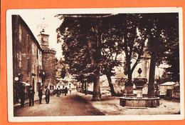 X48183 MEYRUEIS 48-Lozere Place SULLY Tour De L' Horloge 1940s à André CATHALA 19e Groupement Chaufeurs ARGRA 138 - Meyrueis