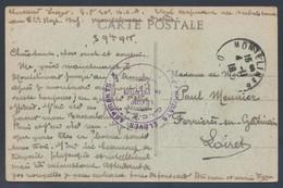 Candidats Elèves Aspirants Franchise 1918 Montélimar CP Jardin Public Le Lion Et Le Rat > Ferrières En Gâtinais Loiret - 1. Weltkrieg 1914-1918