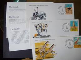 NIGER SG 735-37 FDC WWF FAUNA FLORA SPECIAL COVERS [3] CHEETAH/OSTRICH/GIRAFFE - Namibie (1990- ...)