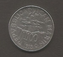 San Marino - Moneta Circolata Da 100 Lire Km82 - 1978 - San Marino
