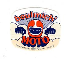 """Autocollant Ancien  """" Boulmich  """"  Moto   ( Bd St Michel Paris ) - Zonder Classificatie"""