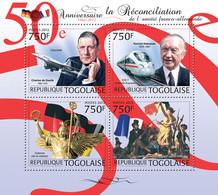 Togo 2012 MNH - France & Germany. YT 2988-2991, Mi 4558-4561 - Togo (1960-...)