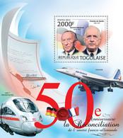 Togo 2012 MNH - France & Germany. YT 607, Mi 4562/Bl.728 - Togo (1960-...)