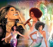 Togo 2012 MNH - Withney Houston (1963-2012). YT 3004-3007, Mi 4598-4601 - Togo (1960-...)