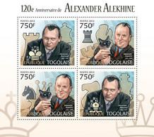Togo 2012 MNH - Chess, Alexander Alekhine (120th Anniversary). YT 3008-3011, Mi 4528-4531 - Togo (1960-...)