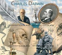 Togo 2012 MNH - Charles Darwin (130th Anniversary Of The Death. YT 3016-3019, Mi 4523-4526 - Togo (1960-...)