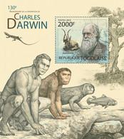 Togo 2012 MNH - Charles Darwin (130th Anniversary Of The Death. YT 614, Mi 4527/Bl.721 - Togo (1960-...)