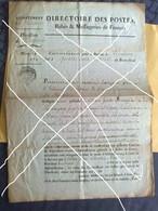 Document Du Directoire Des Postes /Relais Et Messageries De France, Département Du Finistère / Lesneven, Fin XVIII - Documentos Históricos