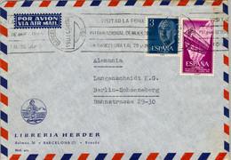 1958 , BARCELONA - BERLIN , SOBRE CIRCULADO , ED. 1159 BÁSICA , ED. 1236 FERROCARRILES - 1951-60 Covers