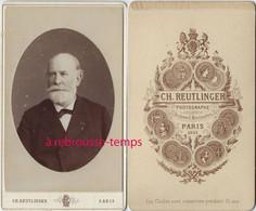 En 1881-CDV Portrait D'homme Par Charles Reutlinger- Bel état - Antiche (ante 1900)