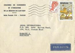 SENEGAL 1986  AIRMAIL COVER TO PAKISTAN. - Senegal (1960-...)