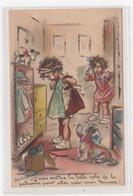 BOURET Germaine : Cpa Avec Collage (systeme -  Série 593) (ex-collection Amigon) - état (manque Le Miroir à Hauche) - Bouret, Germaine