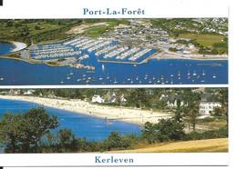 La Forêt Fouesnant - Port La Forêt Et KERLEVEN > Double Vue Aérienne > N°9872 YCA Caoudal éditeur - La Forêt-Fouesnant