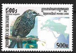 Cambodia - MNH ** 2000 :    Common Starling   - Sturnus Vulgaris - Pájaros Cantores (Passeri)