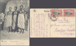Carte Postale - Congo : Types De La Côte D'Ivoire, Femmes Seins Nus / Voyagée. - Belgian Congo - Other