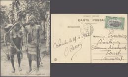 Carte Postale - Congo Belge : Mère Et Fille Mayumbe Se Rendant Au Marché, Femmes Seins Nus / Voyagée. - Belgian Congo - Other