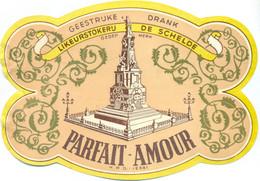 Oud Etiket / Ancienne étiquette Likeur / Liqueur Parfait-Amour - Likeurstokerij De Schelde - Labels