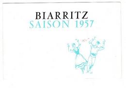 Dépliant Touristique, BIARRITZ Saison 1957,  Programme Complet. - Toeristische Brochures