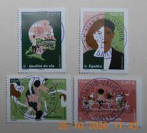 FRANCE 2020   Du  Feuillet  LA TERRE ET LES HOMMES     Cachets  RONDS - Used Stamps