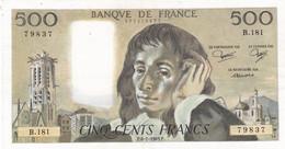 500 Francs - PASCAL 1983  B 181 - SUP  -  Voir Scan - 500 F 1968-1993 ''Pascal''