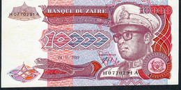 ZAIRE  P38   10.000  ZAIRES   1989 # H-A.  !         UNC. - Zaire
