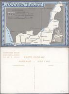 Carte Postale (spécial) - Cie Belge Maritime Du Congo, Anvers-Congo : Carte + échalle Bas & Moyen-Congo / Neuve. - Belgian Congo - Other
