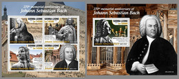 SIERRA LEONE 2020 MNH Johann Sebastian Bach Composer Komponist Compositeur M/S+S/S - OFFICIAL ISSUE - DHQ2042 - Music