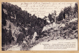 X48030 LANGOGNE Lozere Gorge Pied Mont MILAN Env. CHIROLET VILLEFORT 1925 à Fernande HUGUET - Langogne