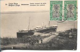 CONGO BELGE - Shinkakasa - Steamer Chargeant Des Galets - Belgian Congo - Other