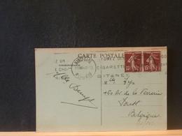 91/548 CP  FRANCE POUR LA BELG. 1934 FLAMME - Tabak