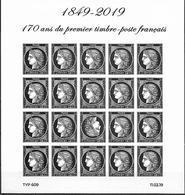 France 2019 - Yv N° F5305 - Bloc Ceres  -  170 Ans Du Premier Timbre-poste Français - Salon Philatélique Du Printemps - Frankreich