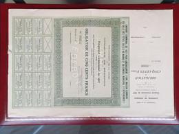 Extrêmement Rare Obligation Emprunt Sederon Drome 1927 72 Exemplaires Introuvable - Hist. Wertpapiere - Nonvaleurs