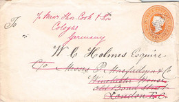 INDIA - LETTER 1896 BOMBAY > LONDON > CÖLN /AA179 - 1882-1901 Imperium